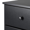 Astrid 4-Drawer Dresser, Black