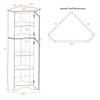Elite White Tall 2-Door Corner Storage Cabinet