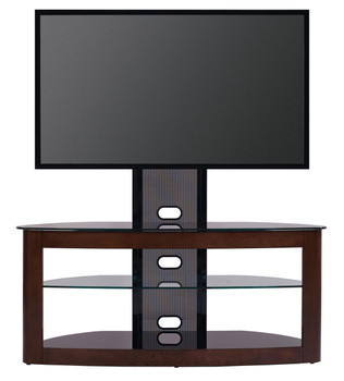 "TV Stand with Mount for 35""-65""Flat Panel TV Dark Oak/Black"