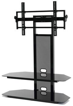"""TV Stand with moun for 35""""-65"""" LCD/LED TV 2 AV Sheves Black"""