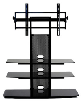 "TV Stand with universal mount for 35""-65"" TV 3 AV Shelves"