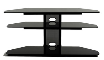"Corner TV stand with 2 AV shelves for 32""-55"" Plasma, LCD TV"