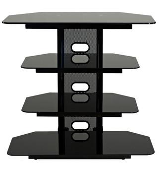 """Corner TV stand with 3 AV shelves for up to 35"""" LCD TV"""