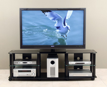 "TV stand with caster for 35""-70"" Plasma, LED/LCD TV TD208B"