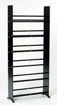 Black Glass Multimedia CD/DVD Rack for 336 CD 234 DVD TD319B