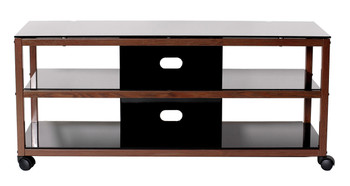 "TV Stand /TV Cart with 2 AV Shelves for up to 55"" Flat Panel TV"