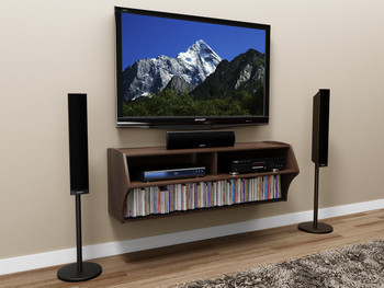 Altus Wall Mounted Audio/Video Console, Espresso