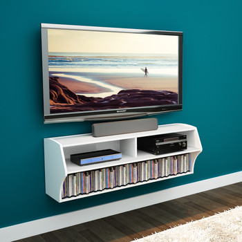 Altus Wall Mounted Audio/Video Console, White
