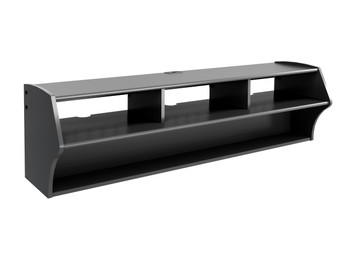 "Altus Plus 58"" Floating TV Stand, Black"