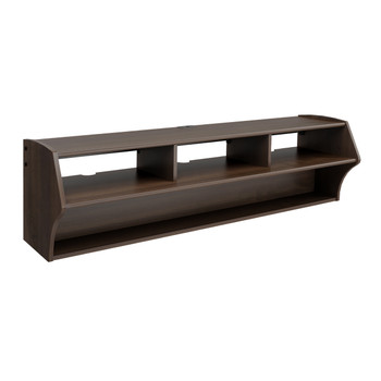 "Altus Plus 58"" Floating TV Stand, Espresso"