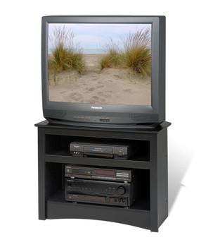 Corner TV Stand, Black