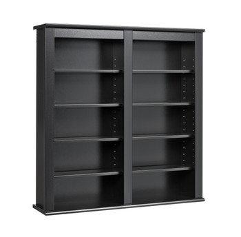 Double Wall Mounted Storage, Black