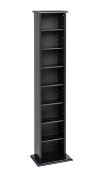 Slim Multimedia Storage Tower, Black
