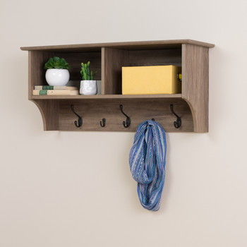 "36"" Wide Hanging Entryway Shelf, Drifted Gray"