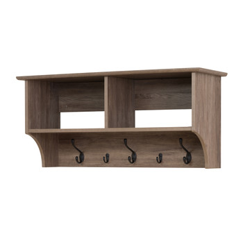 """36"""" Wide Hanging Entryway Shelf, Drifted Gray"""