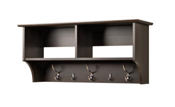 "36"" Wide Hanging Entryway Shelf, Espresso"
