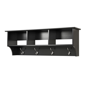 Entryway Cubbie Shelf, Black