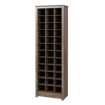 36 pair Shoe Storage Rack, Drifted Gray