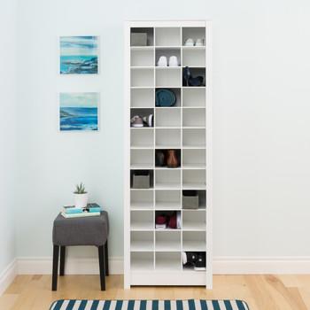 36 pair Shoe Storage Rack, White