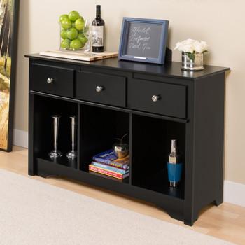 Living Room Console, Black