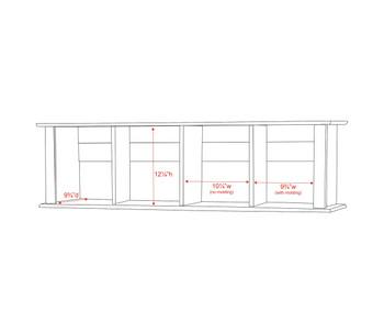 Wall Mounted Desk Hutch, Espresso