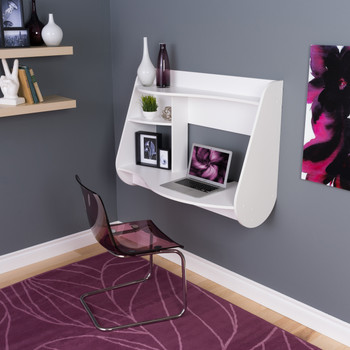Kurv Floating Desk, White