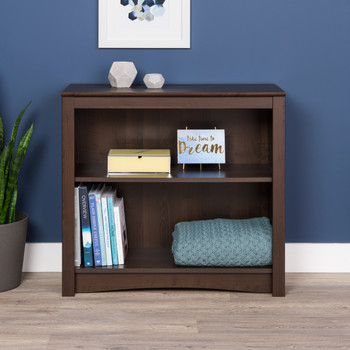 2-shelf Bookcase, Espresso