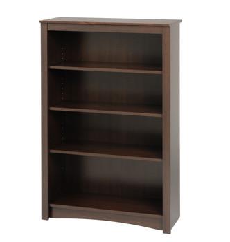 4-shelf Bookcase, Espresso