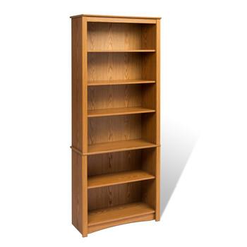 6-shelf Bookcase, Oak