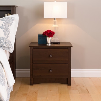 Fremont 2-Drawer Nightstand, Espresso