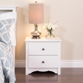 Monterey 2-Drawer Nightstand, White