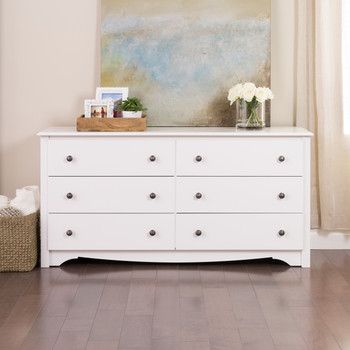 Monterey 6-Drawer Dresser, White