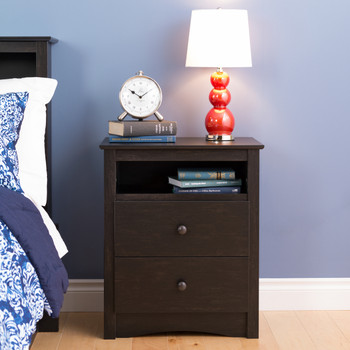 Sonoma 2-Drawer Nightstand, Washed Black