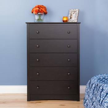 Sonoma 5-Drawer Chest, Washed Black