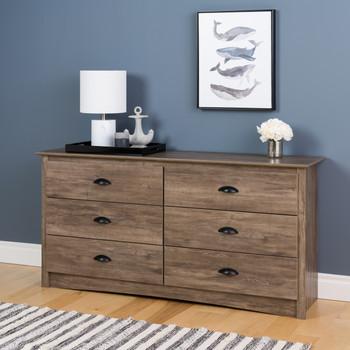 Salt Spring 6-Drawer Dresser in Drifted Gray
