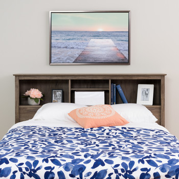 Salt Spring Queen Headboard in Drifted Gray
