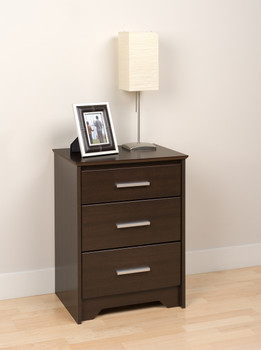 Coal Harbor 3-Drawer Tall Nightstand, Espresso
