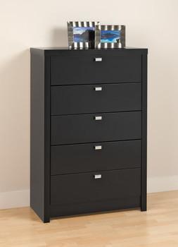 Series 9 Designer - 5-Drawer Chest, Black