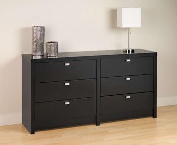 Series 9 Designer - 6-Drawer Dresser, Black