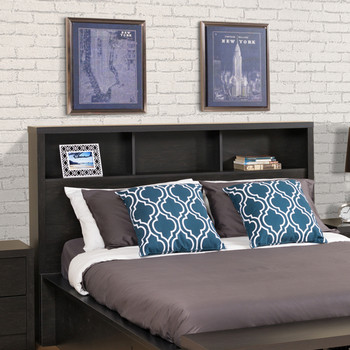 District Double/Queen Headboard, Washed Black