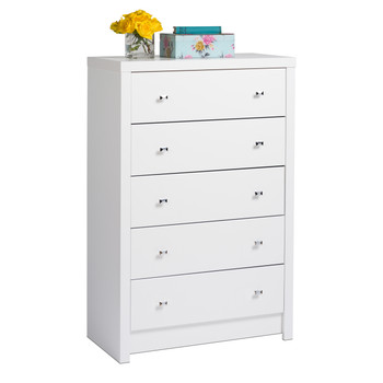 Calla 5-Drawer Chest, White