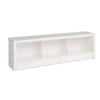 Calla Storage Bench, White