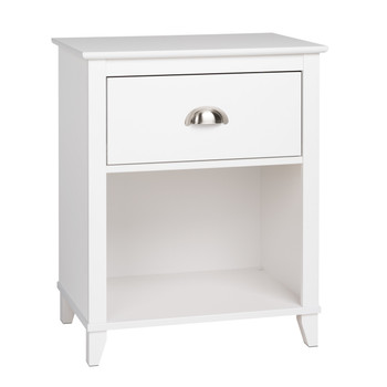 Yaletown 1-Drawer Tall Nightstand, White