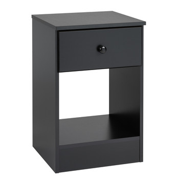 Astrid Tall 1-Drawer Nighstand, Espresso