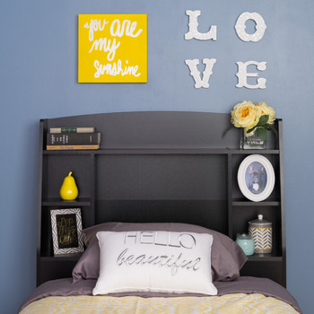 Astrid Twin Headboard, Black