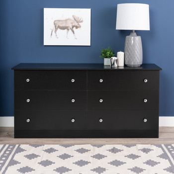 Edenvale 6-Drawer Dresser, Black