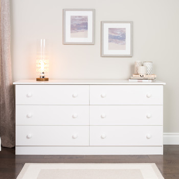 Edenvale 6-Drawer Dresser, White