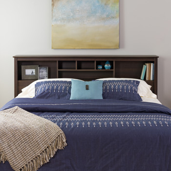 King Bookcase Headboard, Espresso
