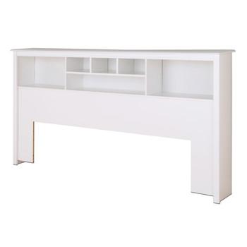 King Bookcase Headboard, White