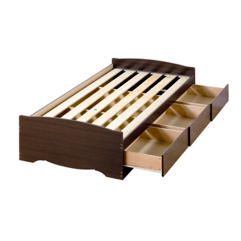 Twin Mate's Platform Storage Bed with 3 Drawers, Espresso